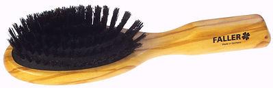 Haarbürste Pneumassage-Bürste Olivia oval klein Naturborsten | 8 Reihen | Grösse 175x48mm