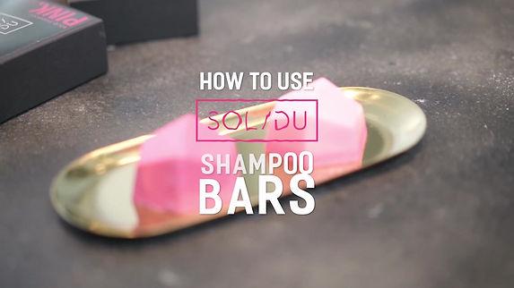 Anwendung Solidu Solid Shampoo Bar