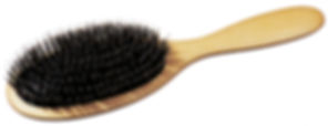 Pneumatik-Haarbürste Buchenholz oval gross mit Naturborsten & Frisierpin