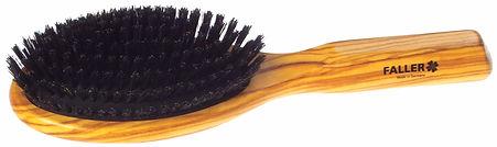 Haarbürste Pneumassage-Bürste Olivia oval gross Naturborsten | 10 Reihen | Grösse 220x62mm