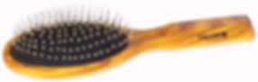 Haarbürste Pneumassage-Bürste Olivia oval gross Stahlstifte mit Noppen