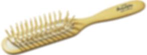 Haarbürste Pneumatik-Bürste Buchenholz gerade echte Holzstifte | Grösse 216x33mm