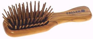 Haarbürste Pneumassage-Bürste Olivia mini echte Holzstifte | 7 Reihen | Grösse 118x37mm