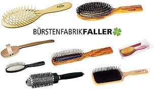 Faller Haarbürsten Olivenholz & Buchenholz