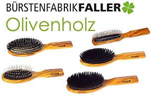 Apricore AG Faller Haarbürsten Olivenholz