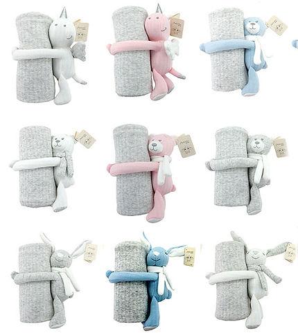 Baumwoll-Kinderdecken mit Tierli
