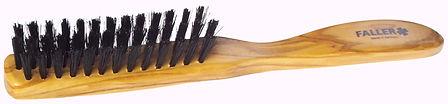 Haarbürste Olivia schmal Naturborsten |3 Reihen | Grösse 205x21mm