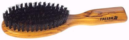 Haarbürste Olivia oval klein Naturborsten |7 Reihen | Grösse 175x48mm