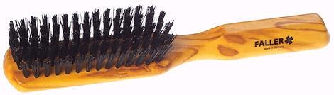 Haarbürste Olivia flach Naturborsten |5 Reihen | Grösse 205x35mm