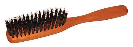 Haarbürste Birnbaumholz | gerade | Naturborsten