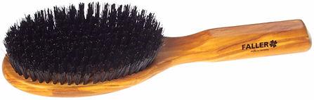 Haarbürste Olivia oval gross Naturborsten |11 Reihen | Grösse 220x62mm