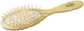 Haarbürste Pneumatik-Bürste Buchenholz oval gross mit echten Holzstiften