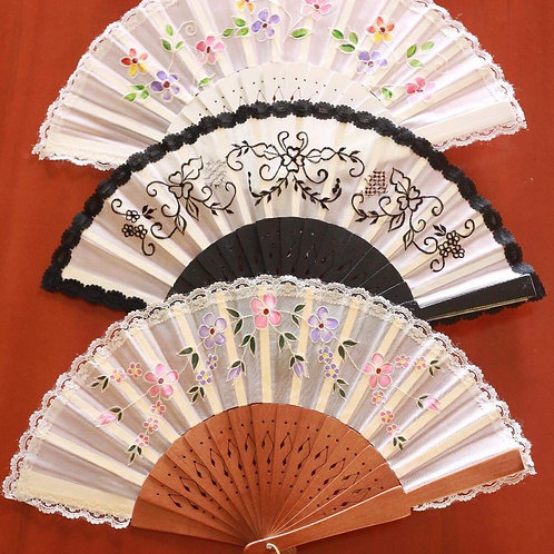 Handpainted/Embroidered Fans