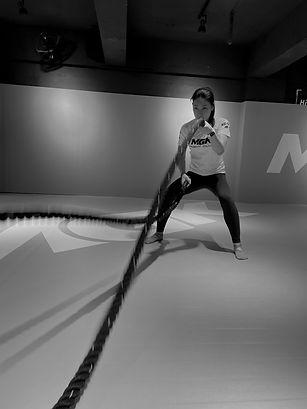 Suki training ropes in Fitness class.jpg
