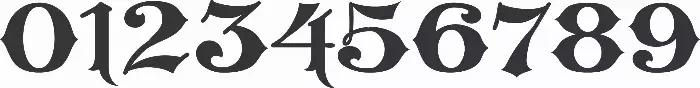 Modèle de police de caractères 248. Un des nombreux choix pour les numéros civiques. .