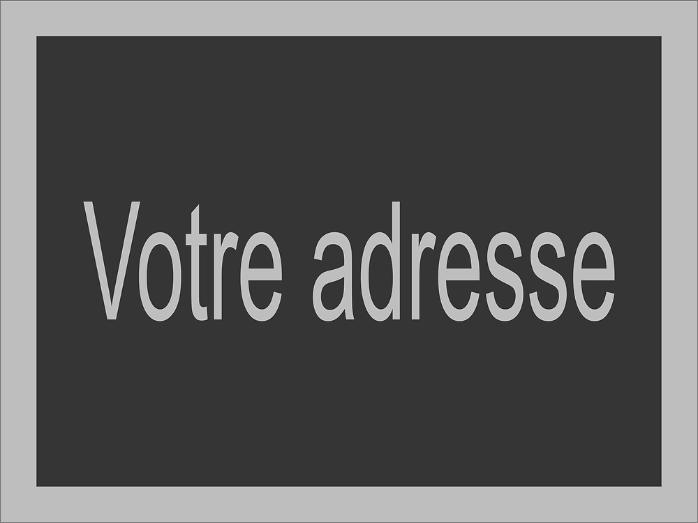 Le modèle d'adresse 563 convient parfaitement pour une plaque d'adresse moderne.