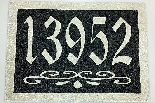 Plaque d'adresse gravée