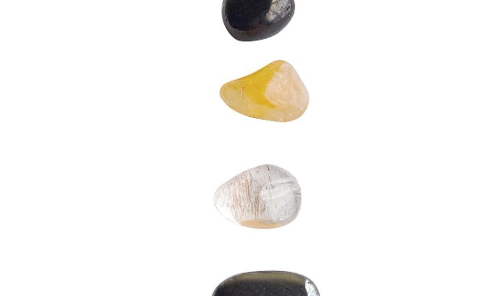 Protection * Black Onyx, Hematite, Crystal Quartz & Citrine