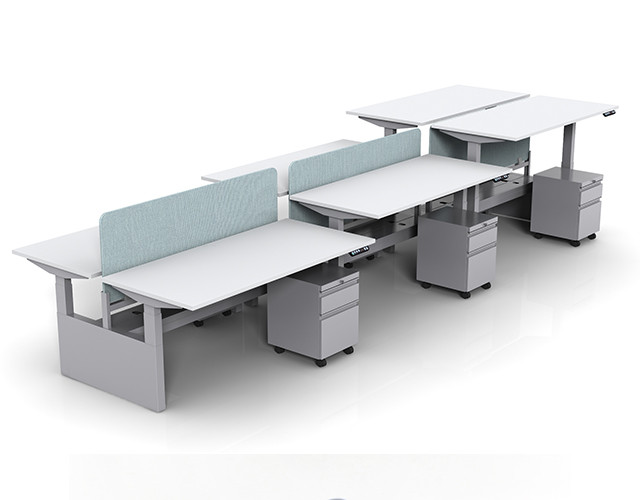 Collaborative Spaces Crest Benching Stations