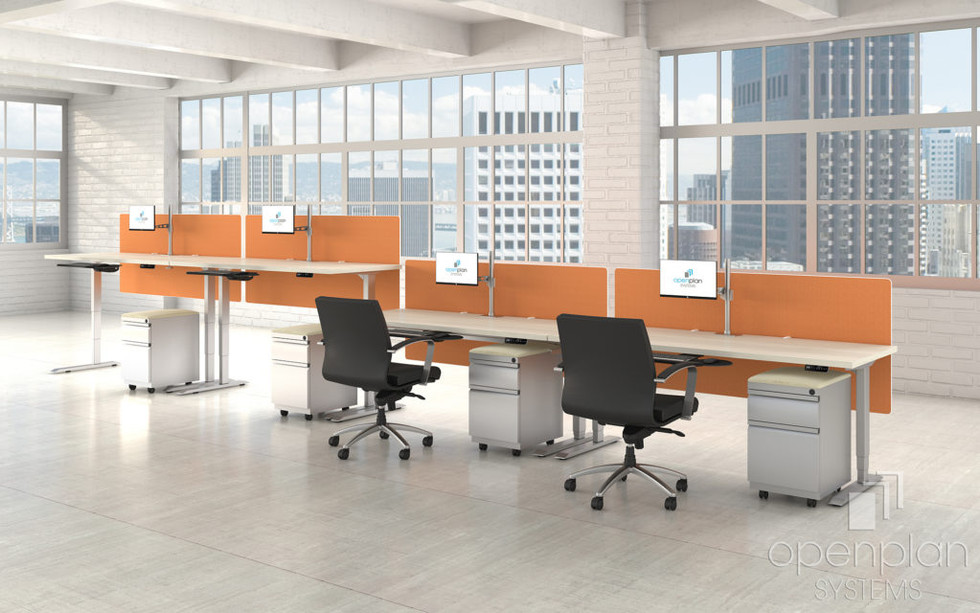 Open Plan sit to stand desk