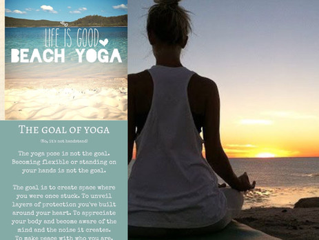 Uitnodiging Yoga@thebeach-Beleving