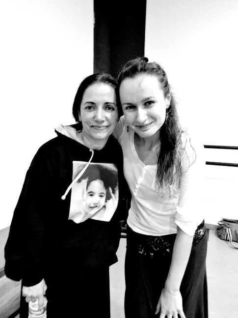 With Eva Yerbabuena