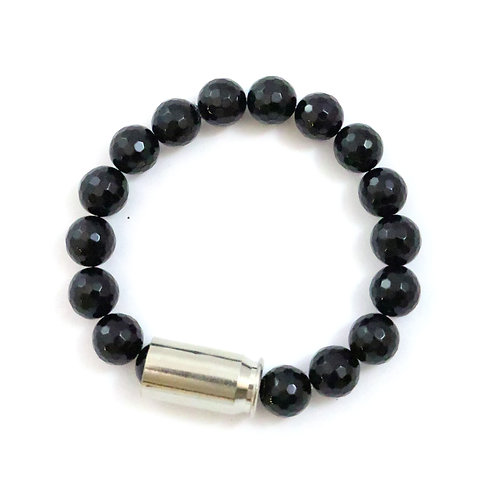 Bailey - onyx, 10mm faceted