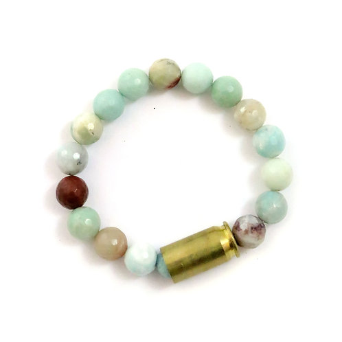 Bailey - amazonite, 10mm faceted