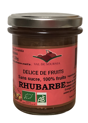 Délice Biologique de Fruits à la Rhubarbe