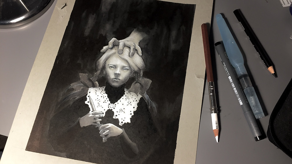 The final ink painting.