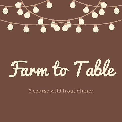 Wild Trout Dinner