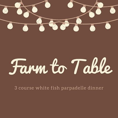 Whitefish Parpadelle Dinner