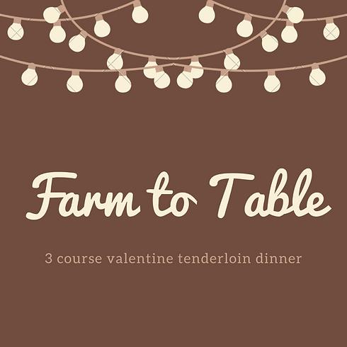 Valentine Tenderloin Dinner