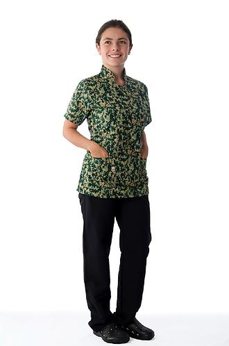 uniforme tetris verde negro
