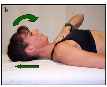 Chin Tuck Exercise in Supine