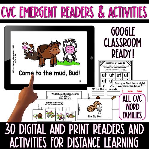 Digital and Printable CVC Emergent Readers & Activities
