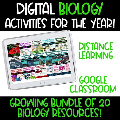 Bundle of Digital Biology Interactive Google Slides