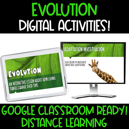 Evolution Unit with Digital Google Activities and Project
