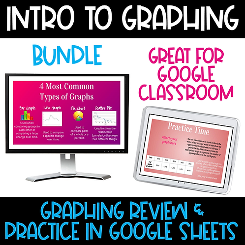 Intro to Graphing Interactive Google Slides - Bundle