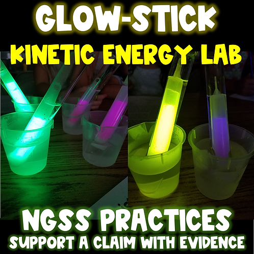 Glow-Stick Kinetic Energy- CER and NGSS Practices