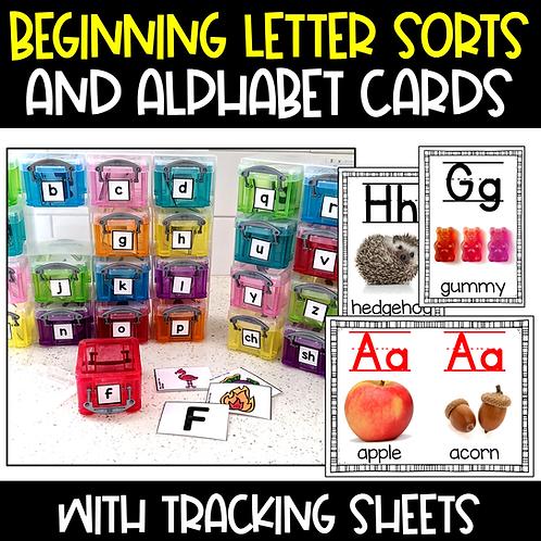 Beginning Sound Activities with Alphabet Cards