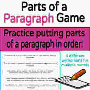 parts of a paragraph game activity elementary