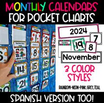Monthly Pocket Chart Calendar