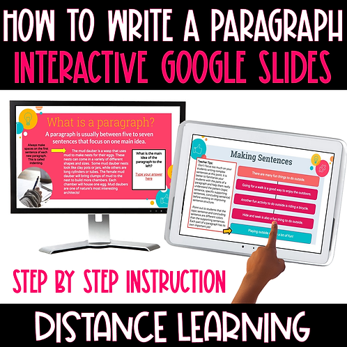 How to Write a Paragraph-Interactive Google Slides