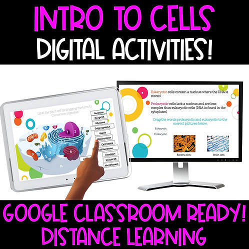 Intro to Cells Interactive Google Slides
