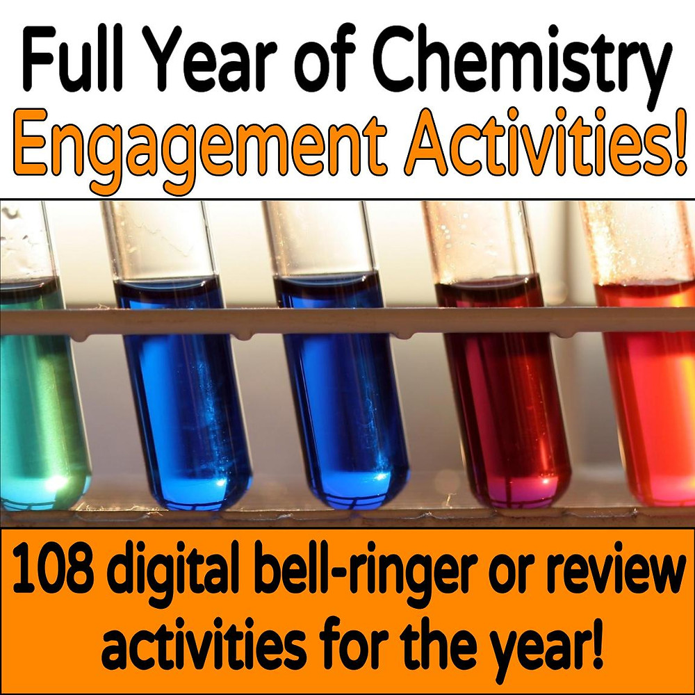 Digital Chemistry engagement activities will keep students on task while teachers transition!