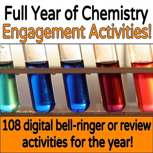 Digital Chemistry Bell-Ringers for the Year