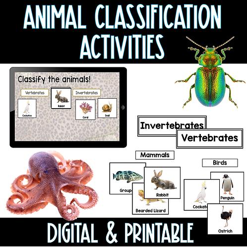 Animal Classification Activities - Digital and Print
