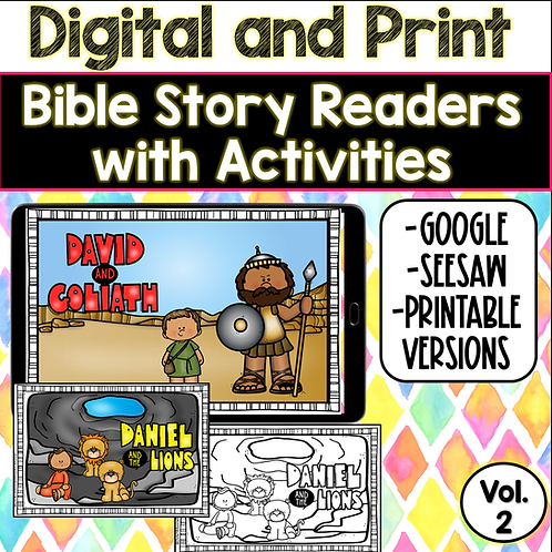 Bible Readers and Activities- Volume 2 (Google and Seesaw Preloaded)