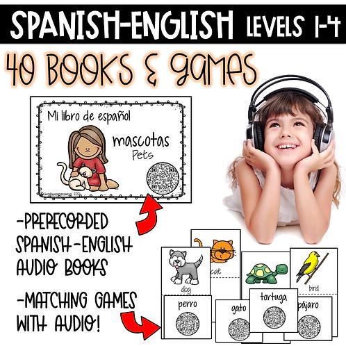 Growing Bundle Spanish-English Books & Games Levels 1-4